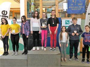 Mlajše učenke državne prvakinje, starejše učenke druge
